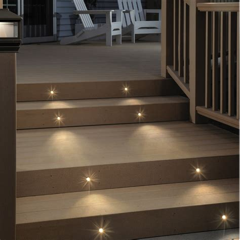 deck lighting deckorators recessed led lighting kit 8 pack at diy home center
