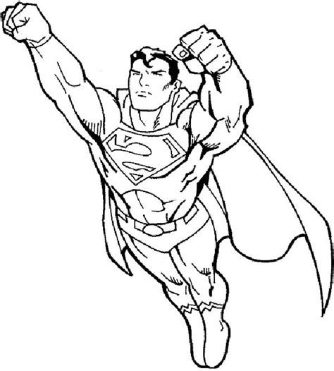 Superman Coloring Pages Fotolipcom Rich Image And Wallpaper