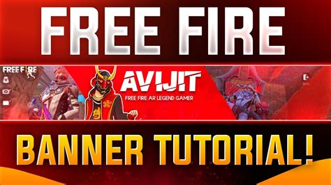 💘if you want to buy then contact me in gmail/social media platforms. How To Make Free Fire Banner For YouTube Channel   Free ...