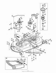 Troy Bilt 13wm77ks011 Pony  2014  Parts Diagram For Mower