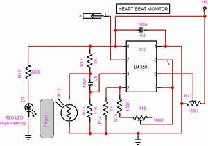 Heartbeat Sensor Circuit And Working Operation With 8051