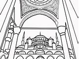 Coloring Mosque Getdrawings Childrens Entries Colorings sketch template