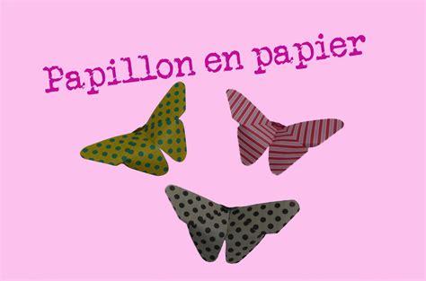 comment faire  papillon en papier facile pliages