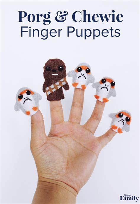 porg  chewie finger puppets disney family