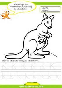 letter k tracing 7 alphabet worksheets trace and print letter k