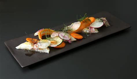cuisine jaune citron ceviche de dorade légumes croquants de florent ladeyn