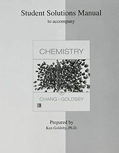 Student Solutions Manual For Chemistry By Kenneth Goldsby
