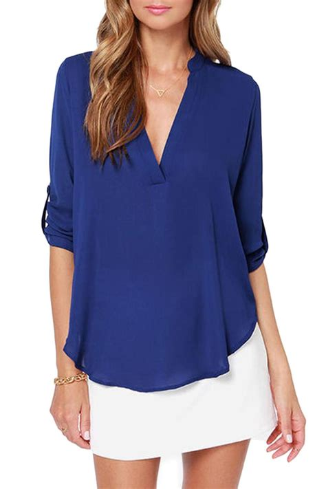 blue blouses lush cobalt blue blouse from seattle by simply chic