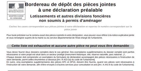 Modification De Declaration by D 233 Claration Pr 233 Alable De Travaux