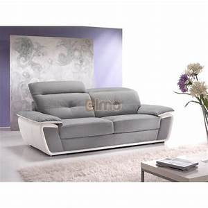 canape d39angle cuir bicolore avec tetiere inclinable With tapis d entrée avec canape cuir d angle relax