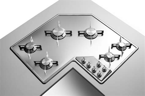 Piano Cottura Alpes by Corner Hobs Alpes Inox