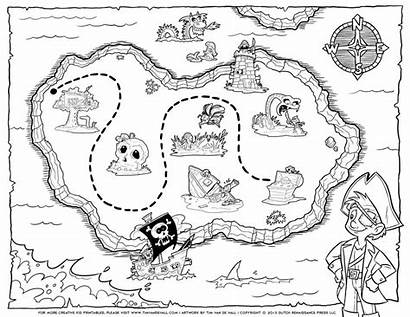 Coloring Pirate Pages Map Printable Treasure Popular