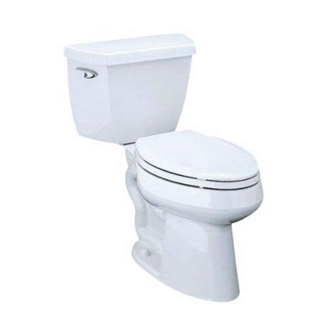 shop kohler highline 1 28 gpf white watersense elongated chair height 2 toilet at lowes