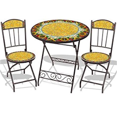 mosaic bistro 3pc set in sunflower burst