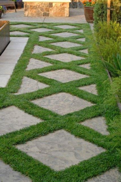 inspire     grass tiles   garden