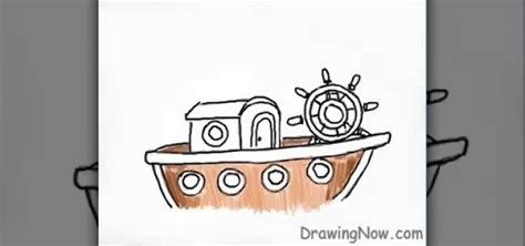 How To Draw A Ancient Boat by How To Draw A Simple Boat 171 Drawing Illustration