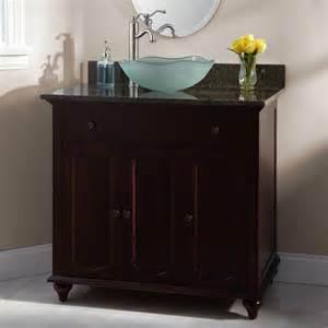bathroom vanity with vessel sink 36 quot cordova cherry vessel sink vanity bathroom