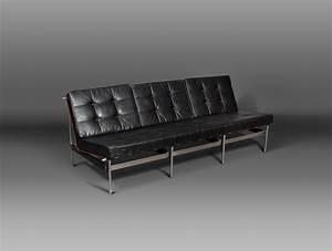 Banquette Cuir Noir : banquette en cuir noir boutonn soubrier louer si ges ~ Premium-room.com Idées de Décoration