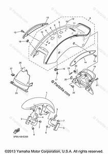 Yamaha Motorcycle 2006 Oem Parts Diagram For Fender
