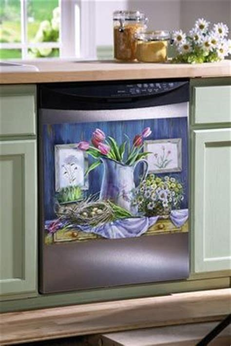 images  dishwasher cover  pinterest strawberry kitchen art floral  magnets