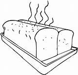 Bread Coloring Sheet Baking Loaf Bakery Fresh Toast Warm sketch template