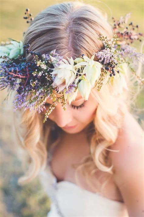 Bridal Flower Crown Wild Berry Glamour Meets Serene