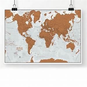 Carte Du Monde Deco : carte du monde gratter en fran ais cadeau maestro ~ Teatrodelosmanantiales.com Idées de Décoration