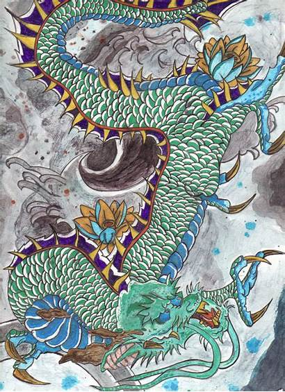 Japanese Dragon Traditional Ancient Japan Tattoo Chinese
