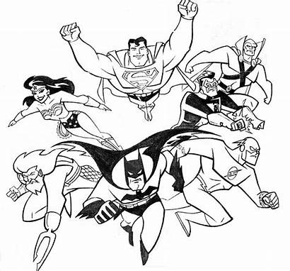 Justice League Coloring Pages Cartoon