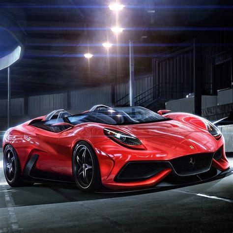 Luxury Red Ferrari Racing Car #ipad #wallpaper