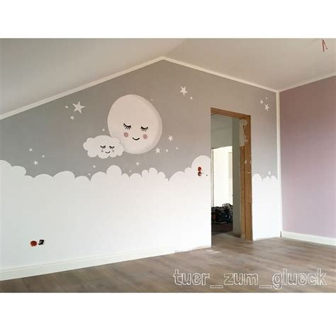 Kinderzimmer Wandgestaltung by Babyzimmer Mond Wolke Gef 228 Llt 547 Mal 39 Kommentare