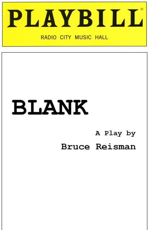 Blank Playbill Cover Blank playbill template ...