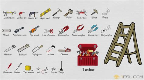 list  tools learn  tools names  english