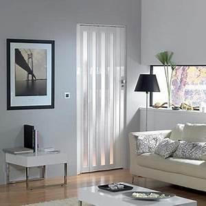 porte accordeon vitree grosfillex 39larya39 pvc blanc 205 x With porte d entrée pvc avec salle de bain haut de gamme paris