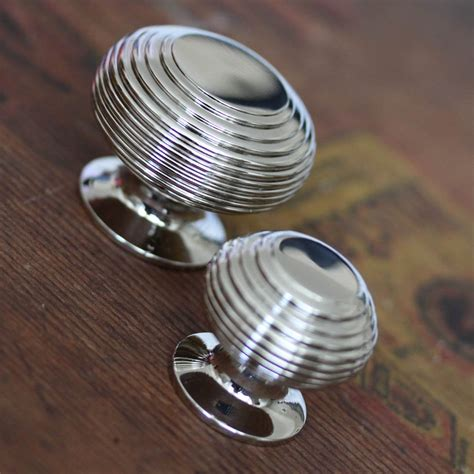 kitchen door knobs nickel beehive cabinet knob