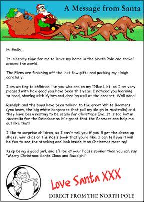 australian personalised letters  santa