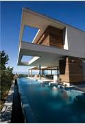 Modern Houses With Pool House Home In South Africa The Pool Is Long And Linear Running