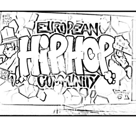 Hip Hop Graffiti Kleurplaat by Hip Hop Harry Coloring Pages Sketch Coloring Page