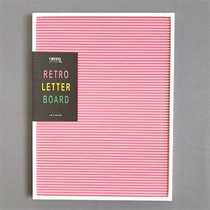 Colour pop retro letter board peg sign by berylune for Retro peg letter board