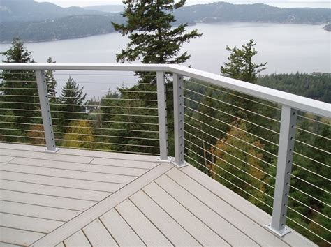 cable deck railing cost 5 types of decorative deck railings salter spiral stair