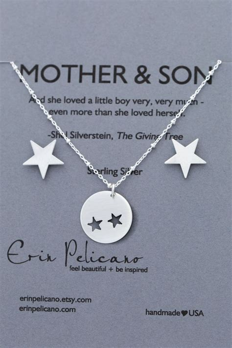 mother  son jewelry inspirational gift mom