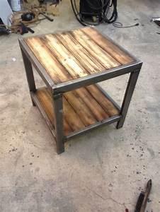 Metal And Woods : end table welding pinterest tables and end tables ~ Melissatoandfro.com Idées de Décoration
