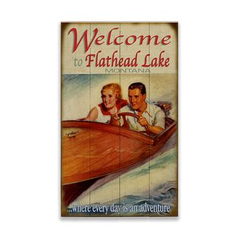 Wooden Boat Adventures by Everybody Has A Time In Boating Sign Wood