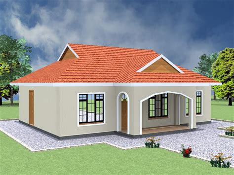 simple  bedroom house plans  kenya hpd consult