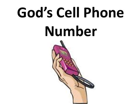 cell phone number god s cell phone number