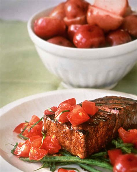 grilled tuna grilled tuna with balsamic glaze recipe martha stewart