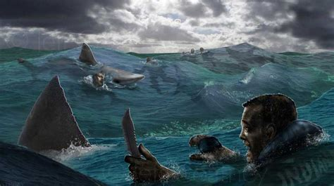 Uss Indianapolis Sinking Sharks by Concept Design Environments Jeff Coatney