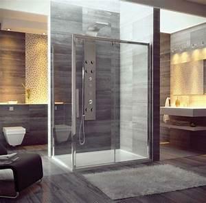 salle de bain avec douche italienne naturelle et relaxante With porte de douche coulissante avec salle de bain moderne 2016