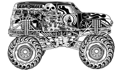 monster truck coloring pages  birthday monster trucks pinterest coloring