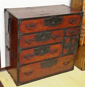 Antique Japanese Clothing Tansu Chest Sendai Isho Dansu